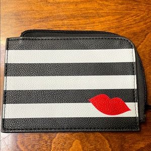 Sephora Black&White Cosmetic Make Up Pouch Stripe